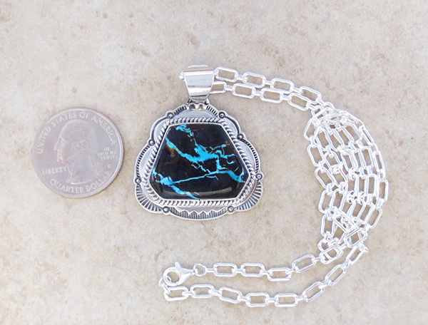 Image 1 of  Sunnyside Turquoise & Sterling Silver Pendant Native American Made - 3798sn