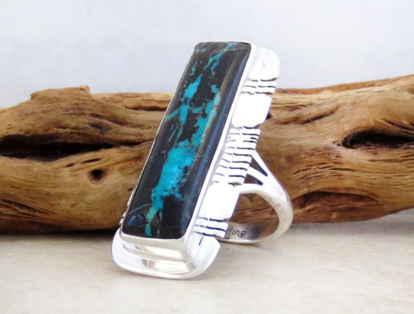 Image 3 of  Sunnyside Turquoise & Sterling Silver Ring Size 7 Native American Made - 4281sn