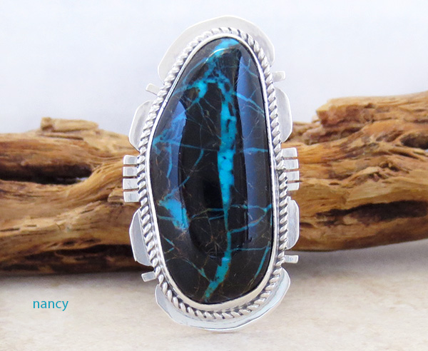 Image 0 of  Sunnyside Turquoise & Sterling Silver Ring Size 7 Native American Made - 4527sn