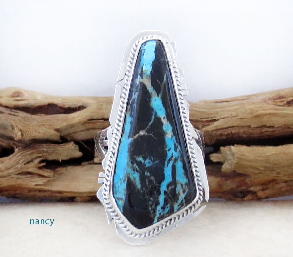 Sunnyside Turquoise & Sterling Silver Ring Size 9 Native American Made - 4528sn
