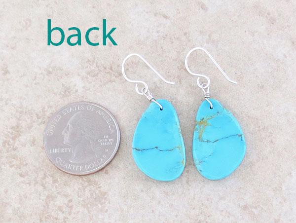 Image 2 of       Sky Blue Turquoise Slab Earrings Kewa Ronald Chavez - 4179pl