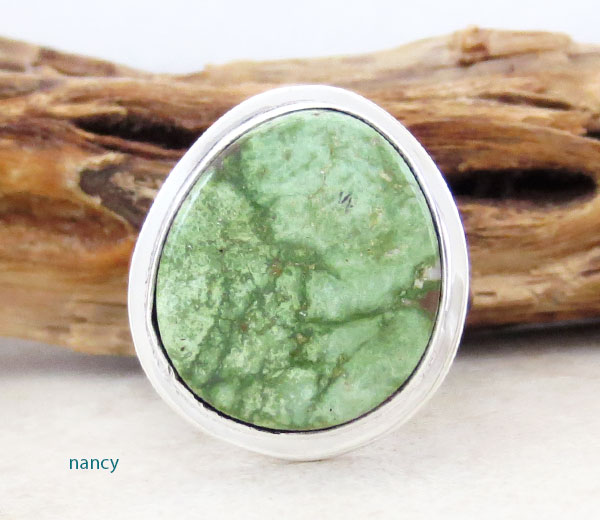 Turquoise & Sterling Silver Ring Sz 9 Native American Jewelry- 4189sn