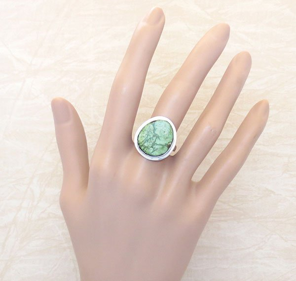 Image 1 of      Turquoise & Sterling Silver Ring Sz 9 Native American Jewelry- 4189sn