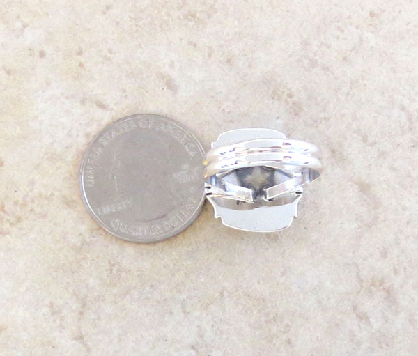 Image 4 of Mammoth Tooth Stone & Sterling Silver Ring Size 9 Navajo Jewelry - 2351sn