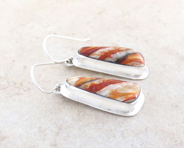 Image 1 of Native American Ancient Mammoth Tooth & Sterling Silver Earrings - 4873sn