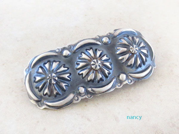 Handcrafted Repousse Barrette Native American Jewelry - 4574rio
