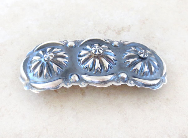 Image 1 of    Handcrafted Repousse Barrette Native American Jewelry - 4574rio