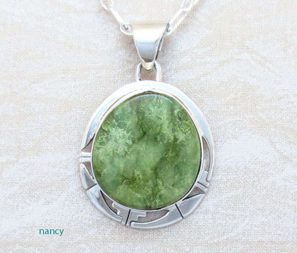 Image 0 of Emerald Valley Turquoise & Sterling Silver Pendant Peter Sanchez - 2109sn
