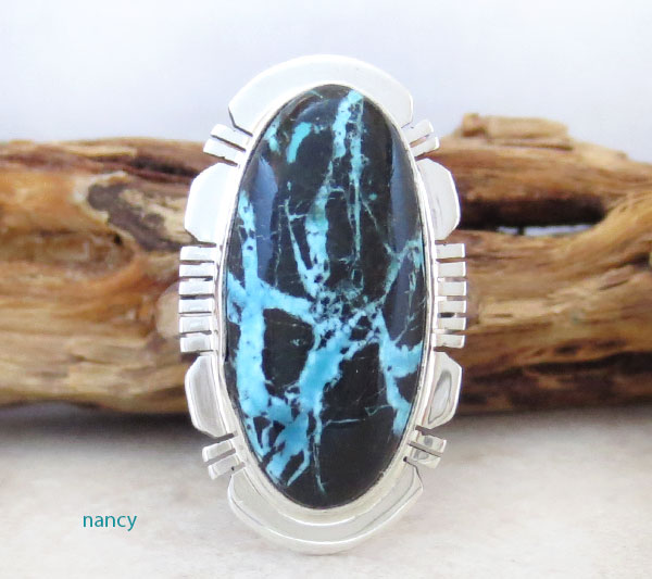 Image 0 of Boulder Turquoise & Sterling Silver Ring Size 7 Native American - 4578sn