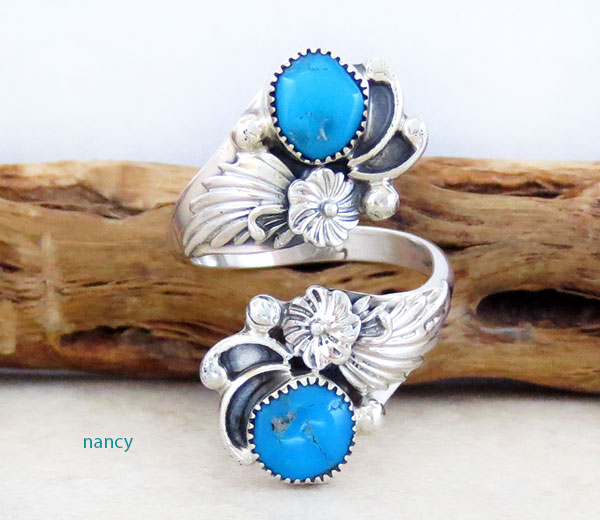 Image 0 of   Turquoise & Sterling Silver Ring Native American Jewelry - 4745rb