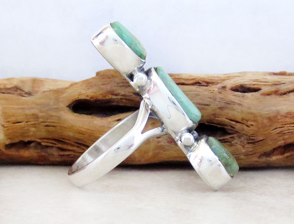 Image 2 of      Turquoise & Sterling Silver Ring Size 8.5 Native American Made - 4750sn