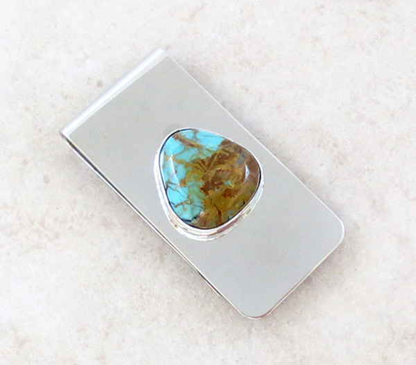 Image 0 of Native American Made Turquoise Money Clip - 1720sn