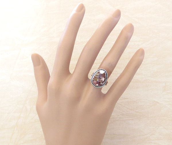 Image 1 of Native American Jewelry Wild Horse Stone & Sterling Silver Ring Sz 5.75 - 2456sn