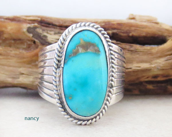 Turquoise & Sterling Silver Ring size 5.5 Native American Jewelry - 2483rb