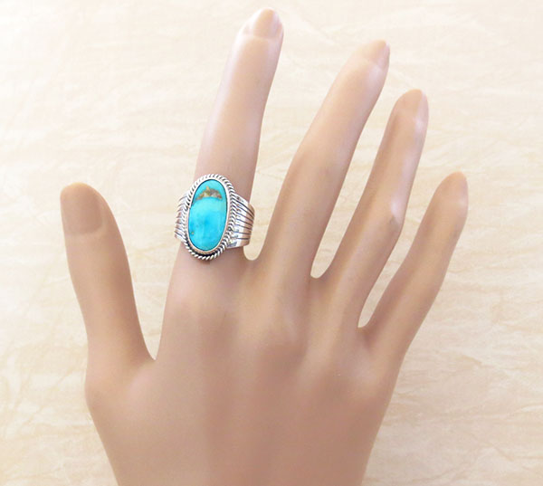 Image 1 of       Turquoise & Sterling Silver Ring size 5.5 Native American Jewelry - 2483rb