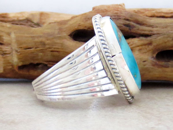 Image 2 of       Turquoise & Sterling Silver Ring size 5.5 Native American Jewelry - 2483rb