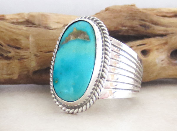 Image 3 of       Turquoise & Sterling Silver Ring size 5.5 Native American Jewelry - 2483rb