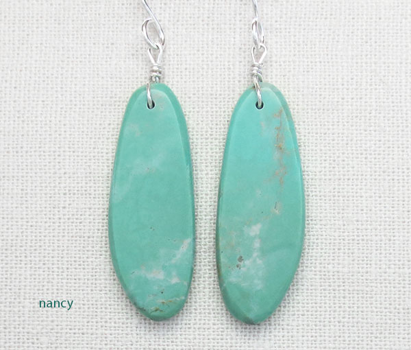 Image 0 of    Native American Turquoise Slab Earrings Kewa Jewelry - 4795pl