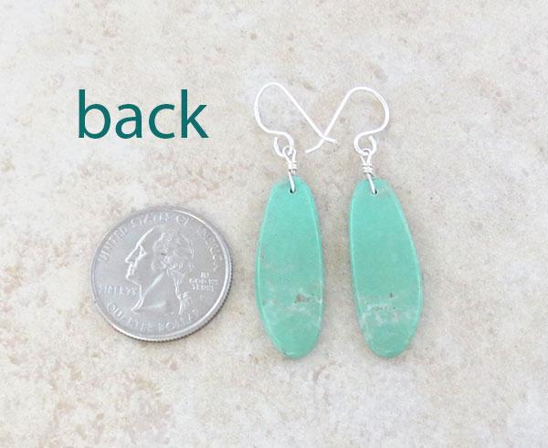 Image 2 of    Native American Turquoise Slab Earrings Kewa Jewelry - 4795pl