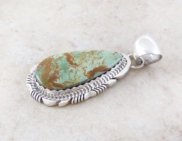 Image 2 of   Turquoise & Sterling Silver Pendant  Native American Made - 1508dt