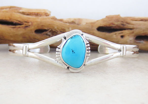 Image 0 of Turquoise & Sterling Silver Bracelet Native American Jewelry- 4571sn