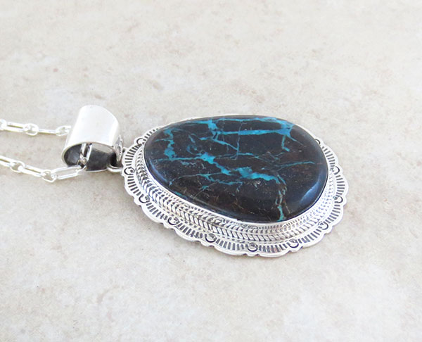 Image 2 of      Sunnyside Look Turquoise & Sterling Silver Pendant Native American - 4796sn