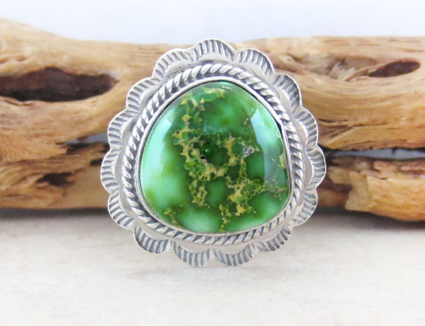 Image 0 of  Turquoise & Sterling Silver Ring Sz 8 Native American Made Jewelry - 4901sn