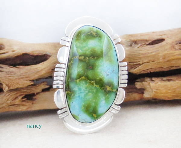 Turquoise & Sterling Silver Ring Sz 8.75 Native American Made - 4899sn