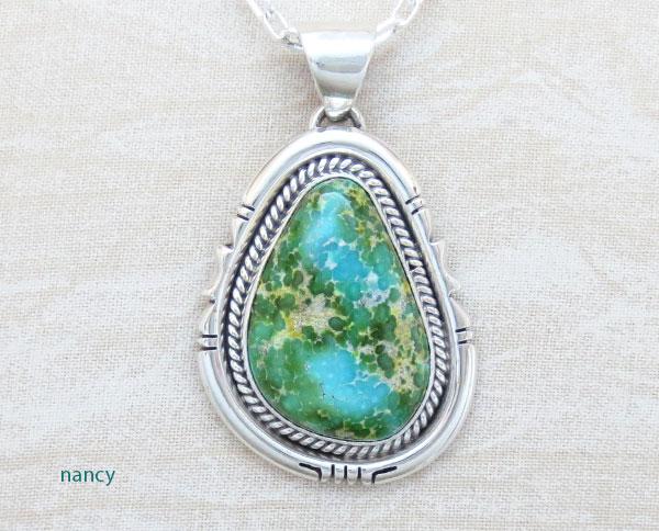 Sonoran Turquoise Pendant Native American Jewelry Navajo Made - 4905sn