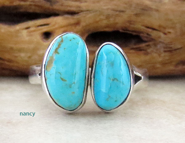 Sterling Silver & Turquoise Ring Sz 7 Native American Jewelry - 4589sn