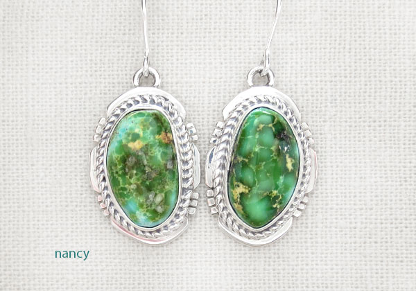 Image 0 of Turquoise & Sterling Silver Earrings Native American Made Jewelry - 4907sn