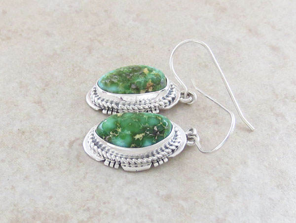Image 1 of Turquoise & Sterling Silver Earrings Native American Made Jewelry - 4907sn