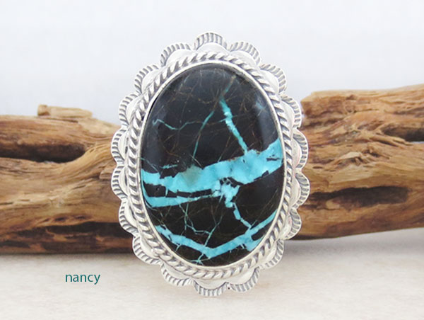 Image 0 of      Turquoise & Sterling Silver Ring Sz 9 Native American Jewelry - 4913sn