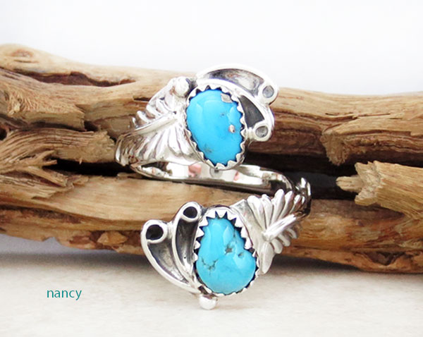 Image 0 of Turquoise & Sterling Silver Adjustable Ring Native American Jewelry - 4918rb