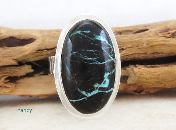 Turquoise & Sterling Silver Ring Sz 8 Native American Jewelry - 4923sn