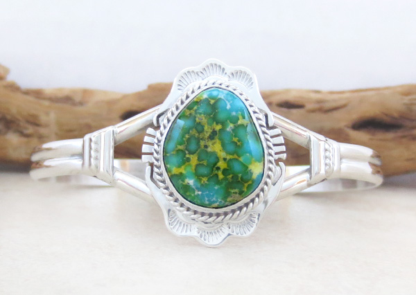Image 0 of  Turquoise & Sterling Silver Bracelet Native American Jewelry - 5025sn