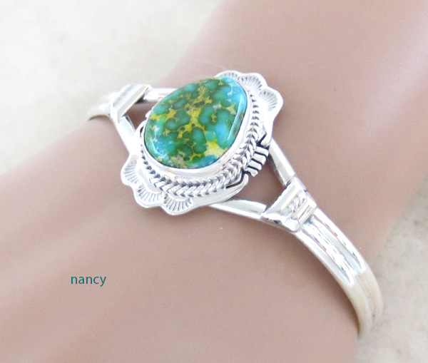 Image 1 of  Turquoise & Sterling Silver Bracelet Native American Jewelry - 5025sn