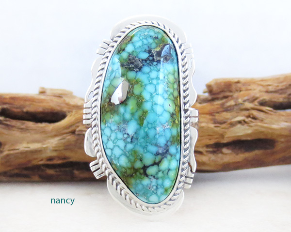 Turquoise & Sterling Silver Ring Sz 10 Native American Made Jewelry 5029sn