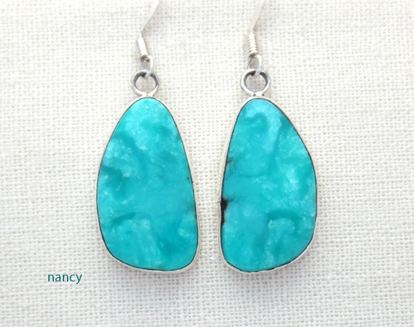 Image 0 of  Turquoise & Sterling Silver Earrings Native American Jewelry - 5026rio