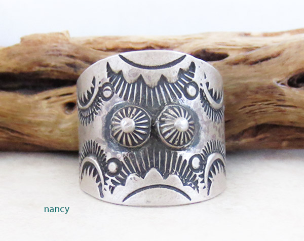 Image 0 of Stamped Sterling Silver Ring sz 10 Native American Jewelry - 5031pl