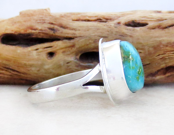 Image 2 of Turquoise & Sterling Silver Ring Sz 9 Native American Made Jewelry - 4931sn