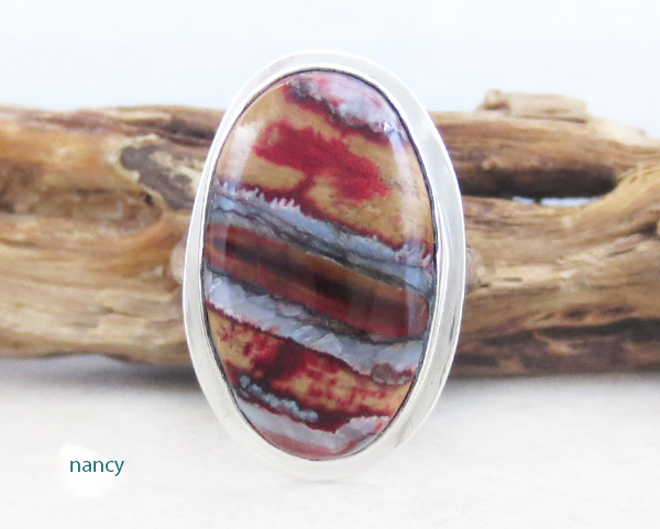 Image 0 of Native American Mammoth Tooth Stone & Sterling Silver Ring Sz 7 - 2150sn