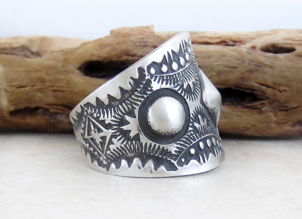 Image 2 of Stamped Sterling Silver Ring sz 11 Native American Jewelry - 2154rb