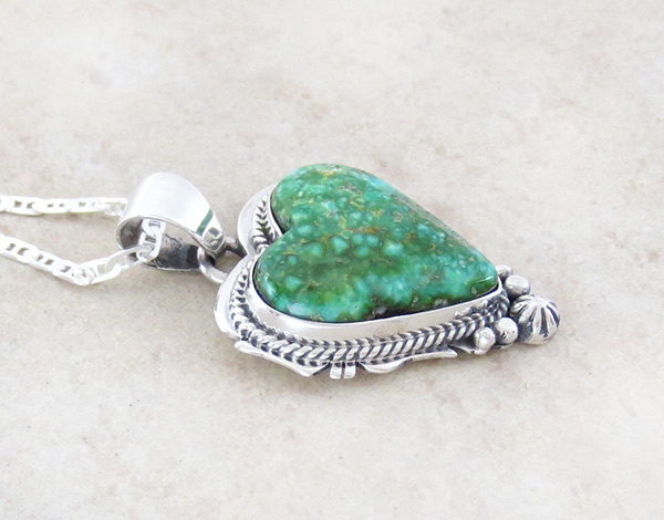 Image 2 of   Sonoran Turquoise & Sterling Silver Pendant Native American Jewelry - 4673sn
