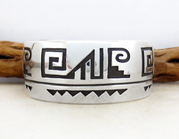Image 1 of Large Sterling Silver Overlay Bracelet Native American Jewelry - 4674rb