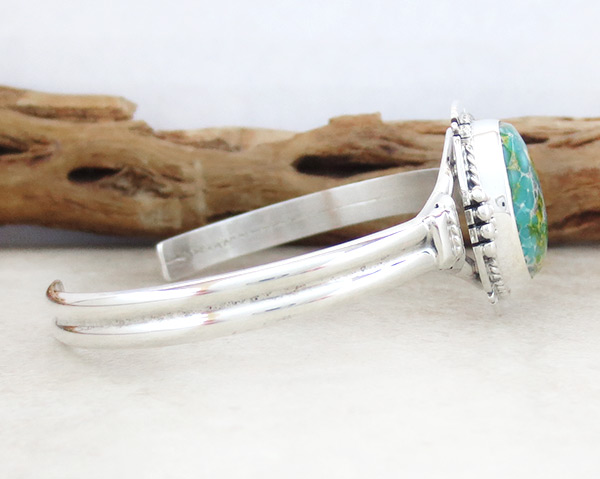 Image 2 of Turquoise & Sterling Silver Bracelet Native American Jewelry - 4679sn