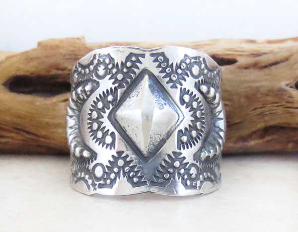 Stamped Sterling Silver Ring sz 11.5 Native American Jewelry - 4932pl