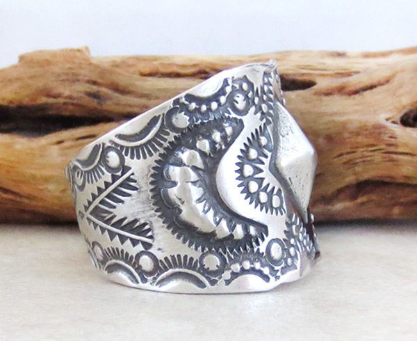 Image 2 of    Stamped Sterling Silver Ring sz 11.5 Native American Jewelry - 4932pl
