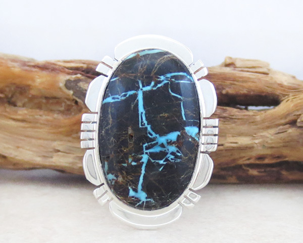 Image 0 of Turquoise & Sterling Silver Ring Sz 7 Native American Jewelry - 4934sn