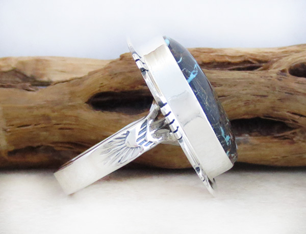 Image 2 of Turquoise & Sterling Silver Ring Sz 7 Native American Jewelry - 4934sn